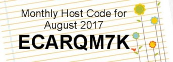 August 2017 Host Code