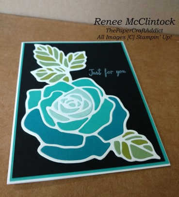 Flat black Stain Glassed Rose Wonder