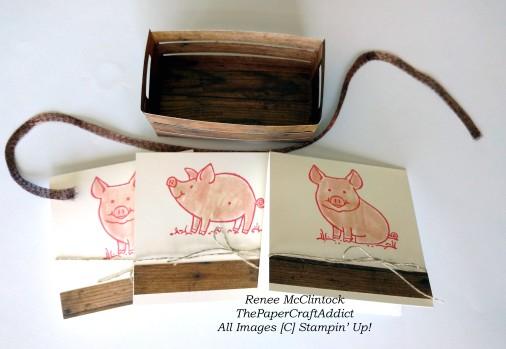 Piggies and crate