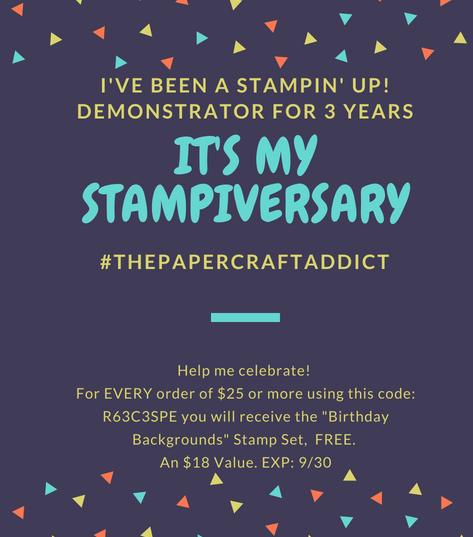 My Stampiversary!