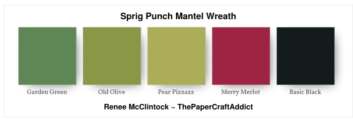 Sprig Punch Mantel Wreath